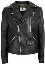 Topman Black Leather Biker Jacket*