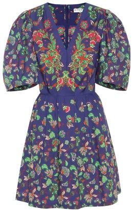 Givenchy Floral-print cotton-poplin minidress