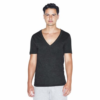 American Apparel Unisex Tri-Blend Deep V-Neck Short Sleeve T-Shirt