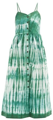 Arizona Love Alma Tie-dye Cotton-twill Dress - Green Print