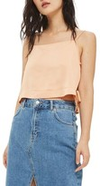 Topshop Women's Side Tie Crop Camisole