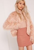 Missguided Ribbed Mini Skirt Pink
