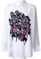 Junya Watanabe Comme Des Garçons flag print shirt