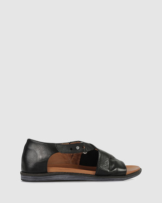 S by Sempre Di - Women's Black Sandals - Zeline Flat Sandals - Size One Size, 37 at The Iconic