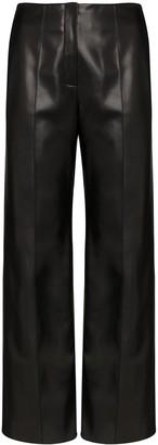 ALEKSANDRE AKHALKATSISHVILI Tie Back Faux Leather Trousers