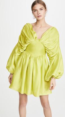 Azeeza V Neck Draped Mini Dress