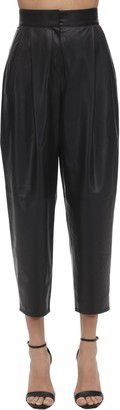 In The Mood For Love HIGH WAIST LEATHER WIDE LEG PANTS