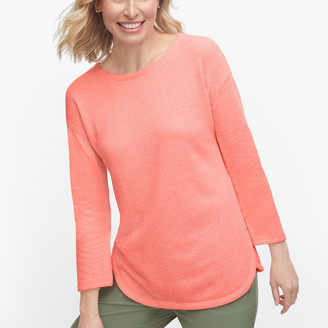 Talbots Textured Dropped Shoulder Pullover