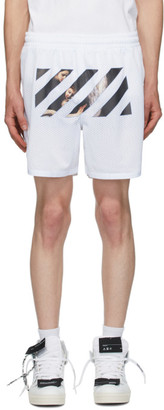 Off-White White Caravaggio Angel Shorts