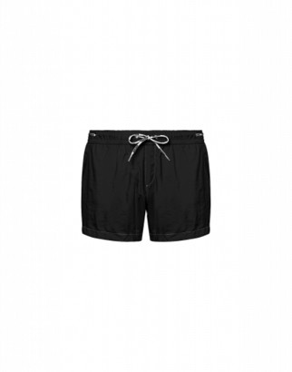 Moschino Logo Lace Nylon Beach Shorts Man Black Size L It - (m Us)