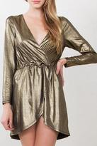 Yipsy Gold Wrap Dress