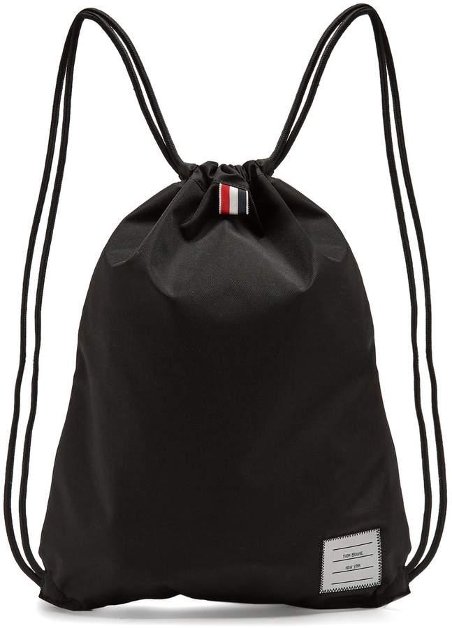 Thom Browne Drawstring nylon backpack