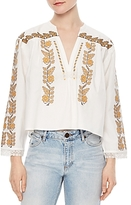Sandro Bali Embroidered Top