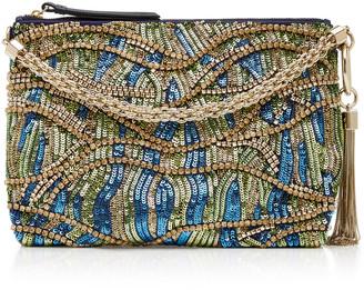 Jimmy Choo Callie Satin Embroidered Clutch Bag