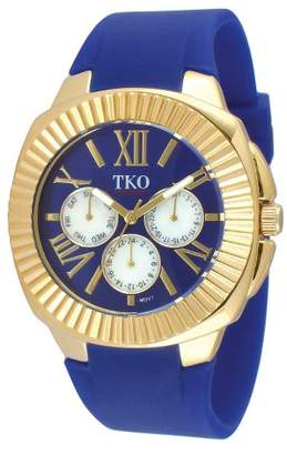 TKO Orlogi Women's TKO Multiple Function Rubber Strap Watch - Blue