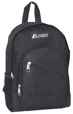 Everest Children's Slanted Pocket Backpack 6045S Black OSFA