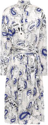 Forte Forte Belted Silk-satin Midi Dress