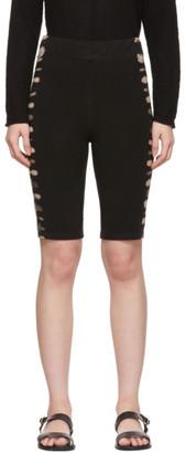 Raquel Allegra SSENSE Exclusive Black Tie-Dye Biker Shorts