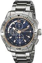 Nautica Men's NAD24500G NST 101 Analog Display Japanese Quartz Silver Watch