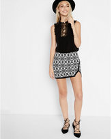 Express geo asymmetrical mini skirt