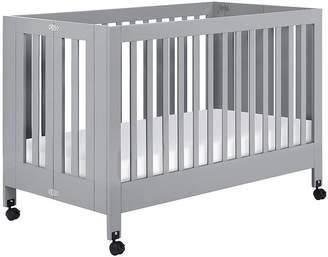 Pottery Barn Kids Babyletto Maki Folding Crib, Grey, Standard UPS Delivery