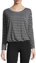 Eberjey Ticking Stripes Slouchy Tee, Thunderstorm