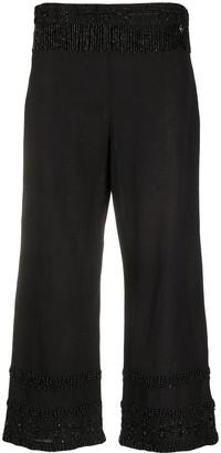 Twin-Set Beaded Fringe Trousers