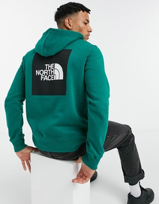 The North Face 2.0 Box pullover hoodie in green