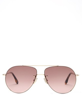 Victoria Beckham Aviator Metal Sunglasses - Gold