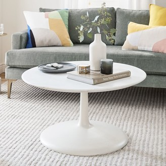 west elm Liv Coffee Table - White Marble