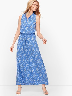 Talbots Floral Paisley Maxi Dress
