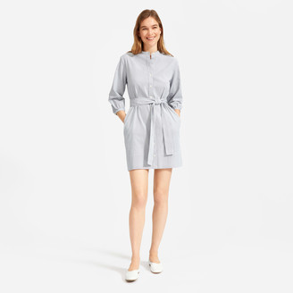Everlane The Cotton Weave Collarless Shirtdress