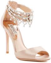 Badgley Mischka Denise Crystal Embellished Ankle Strap Sandal