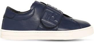 Fendi Leather Strap Sneakers