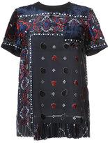 Sacai paisley velvet applique blouse - women - Polyester/Cupro - 2