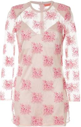 Manning Cartell embroidered sheer mini dress