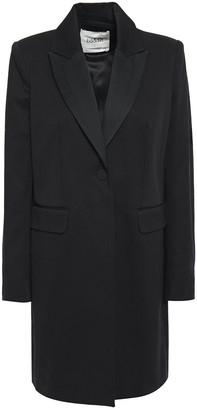BA&SH Satin-trimmed Slub Cotton Blazer