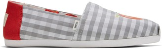 Toms Once Upon A Farm Glacier Grey Gingham CloudBound Women's Classics