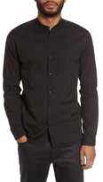 John Varvatos Men's Trim Fit Bib Front Sport Shirt