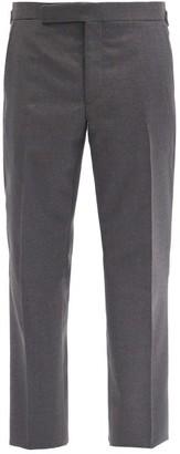 Ralph Lauren Purple Label Flat-rise Wool-fresco Trousers - Grey
