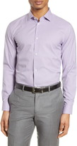 Nordstrom Extra Trim Fit Non-Iron Check Dress Shirt