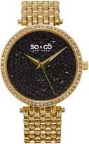 SO & CO New York Women's Crystal-Studded Bracelet Watch