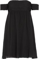 Rachel Zoe Melinda off-the-shoulder silk-georgette mini dress