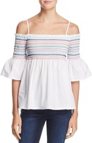 Endless Rose Cold-Shoulder Embroidered Top - 100% Exclusive