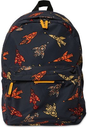 Stella McCartney Rocket Print Nylon Backpack