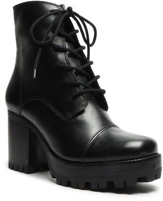 Schutz Jeannie Leather Platform Combat Booties