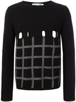 Comme des Garcons perforated checked jumper