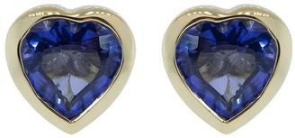 GUITA M 18kt Yellow Gold Tanzanite Heart Stud Earrings