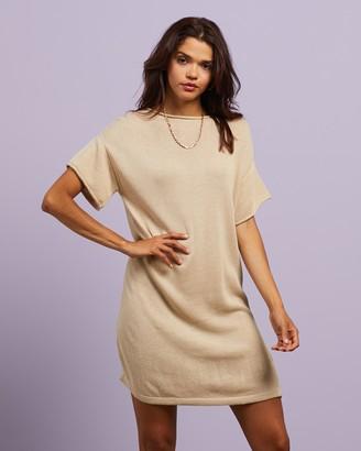 Thrills - Women's Neutrals Mini Dresses - Fairbanks Knit Dress - Size 6 at The Iconic