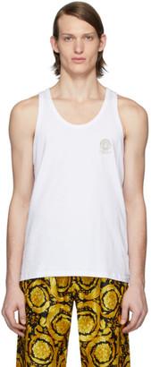 Versace Underwear White Logo Tank Top